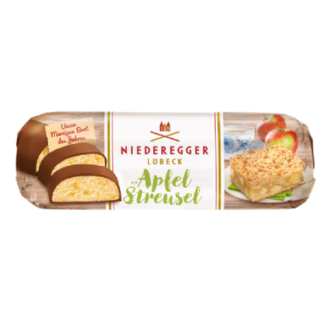 Apple Strudel Milk Chocolate Marzipan NIEDEREGGER LUBECK Loaf Of The Year 125g